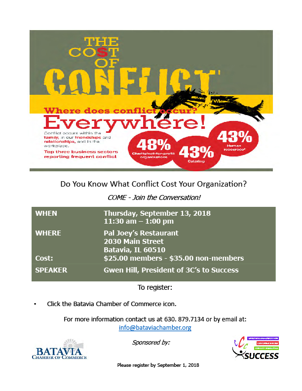 cost of conflict flyer